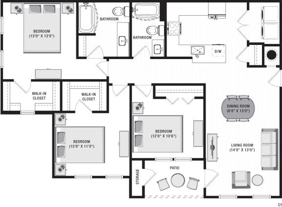 Avalon C1 Floor Plan