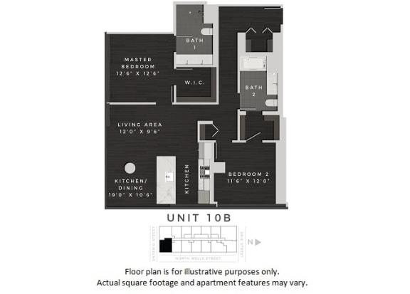 Floor Plan  Unit 10B Floor Plan at 640 North Wells, Chicago, IL