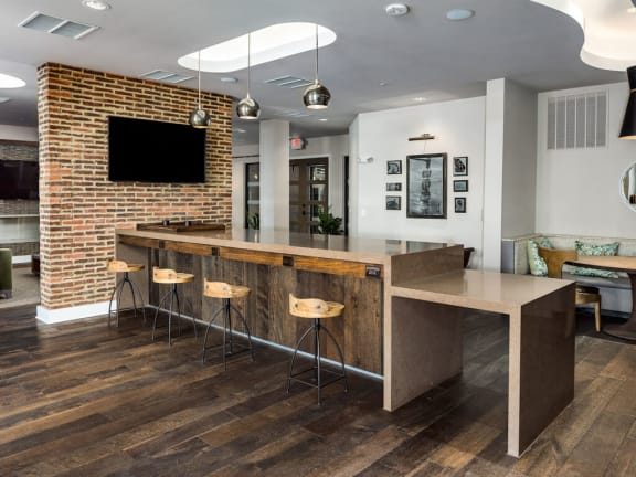 Large Interactive Clubhouse With TV at Millworks Apartments, Atlanta