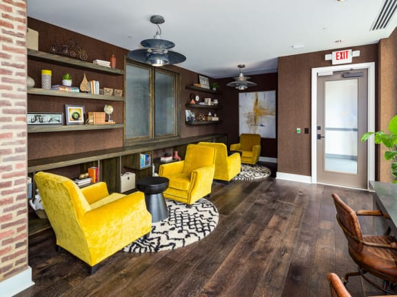 Lounge Area In Clubhouse at Millworks Apartments, Georgia, 30318
