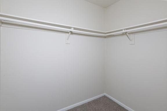 empty interior of large closet at Bridle Creek Apartments in Virginia Beach