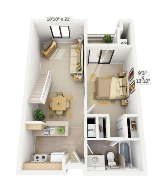 Belmont 1x1 Bedroom Loft at Pine at 6th, California, 90802