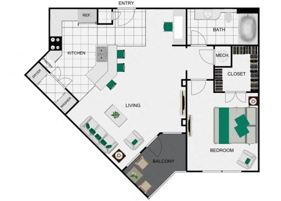 Floor Plan  A4_2 Floorplan for arlo westchase