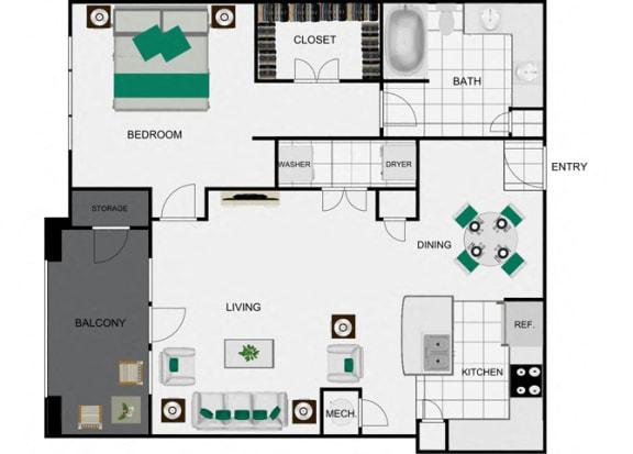 Floor Plan  A7 Floorplan for apartments in houston texas