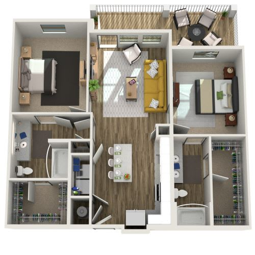 3D Two Bedroom|Two Bath 1033-1151 sf at The Westhouse, Fort Worth, TX  76244