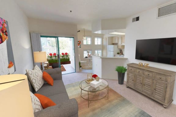 Living Area at Rancho Franciscan Senior Apartments, California, 93105