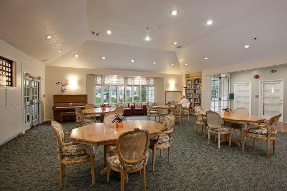 Modern Living Room at Rancho Franciscan Senior Apartments, Santa Barbara, California