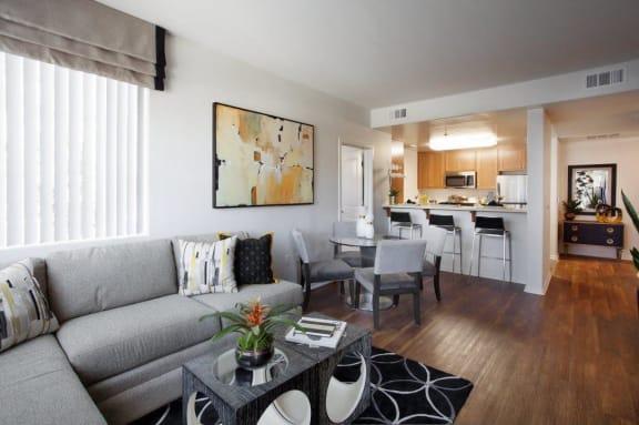 Dining Area Come Hallway View at Hancock Terrace Apartments, Santa Maria, CA