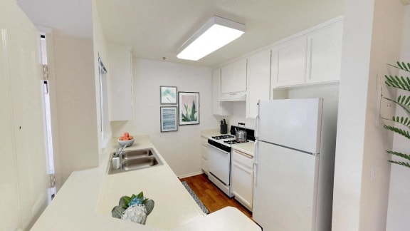 Fitted Kitchen at Cypress Meadows Senior Apartments, Ventura, CA
