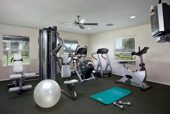 Fitness Center, at  Oceanwood Apartments, Lompoc, CA 93436