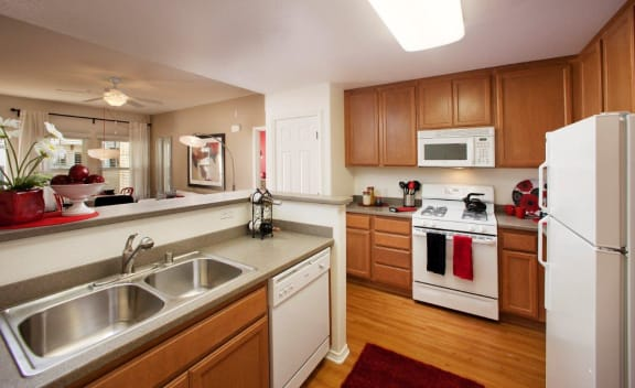 Airy Kitchen With Basin at Ralston Courtyards, California, 93003