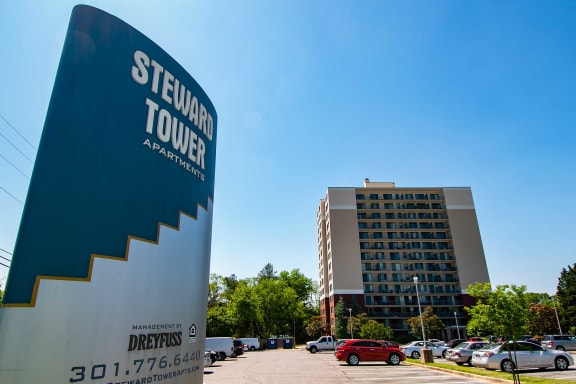 Steward Tower Apartments Off Street Parking Lot Photo