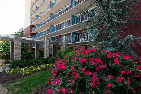 Steward Tower Apartments Oversize Balconies Photo
