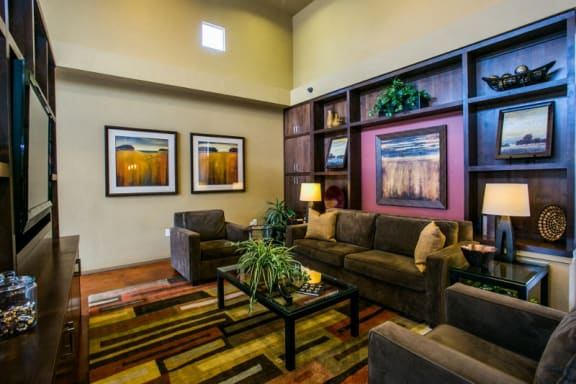 Community lounge at top rated apartments Albuquerque