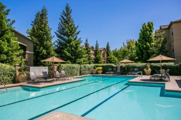 Refreshing Swimming Pool with Lap Lanes and Sundeck at Fairfield Apartments Near Me