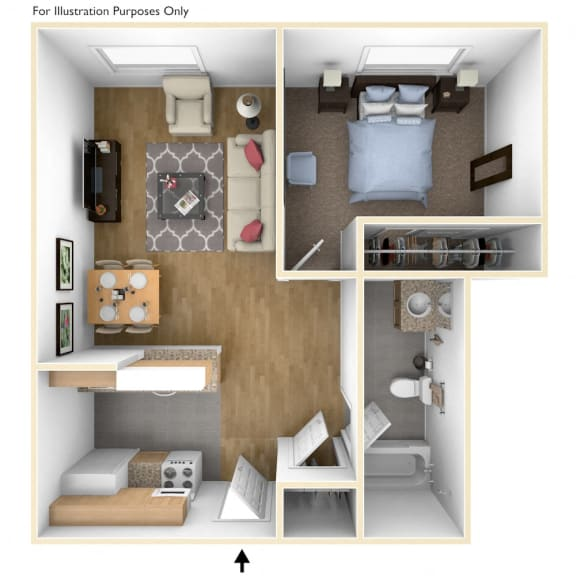 One Bedroom Apartment Floor Plan Royal Worcester Apartments