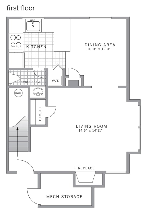 Floor Plan  C1 Corner Floor Plan at Blue Bell Villas, Pennsylvania