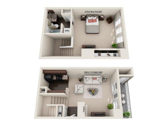 Floor Plan  1 BED  1 BATH  785 sqft