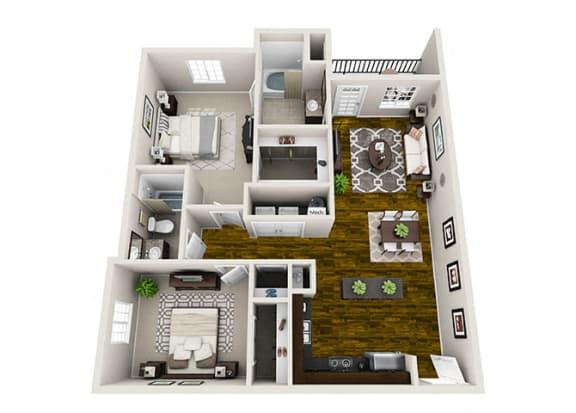 Floor Plan  Palisade 2 Bedroom Floor Plan
