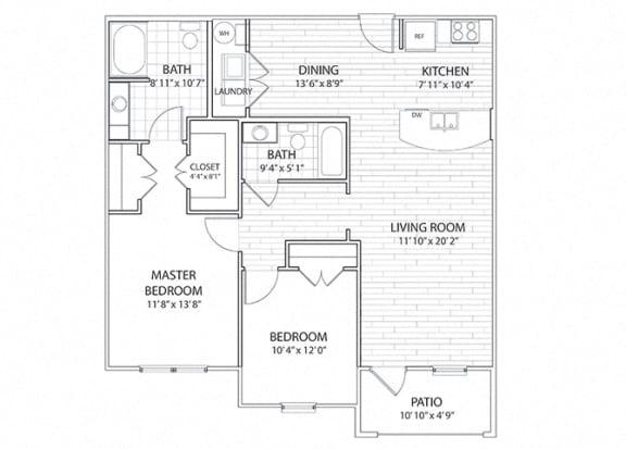 Sierra Two Bedroom Floor Plan