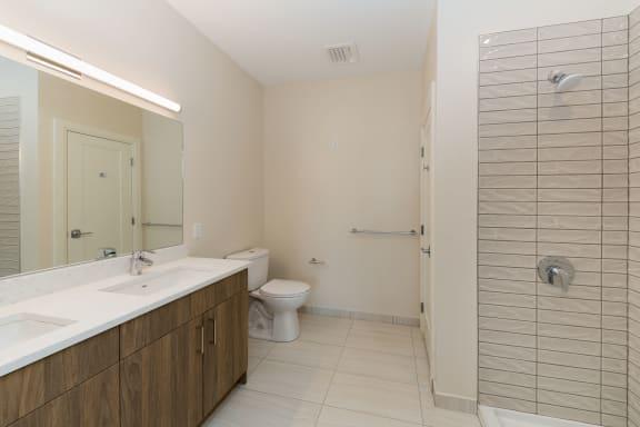 Modern Stand Up Shower at 28 Austin, Newton, MA