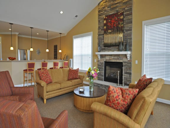 Clubhouse With Catering Kitchen at Killian Lakes Apartments and Townhomes, Columbia, SC
