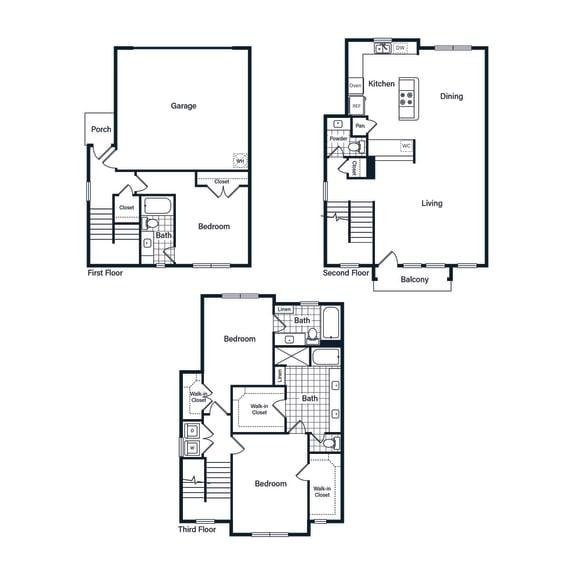 Floor Plan  H1 Floor Plan at Vargos on the Lake, Houston, TX, 77063