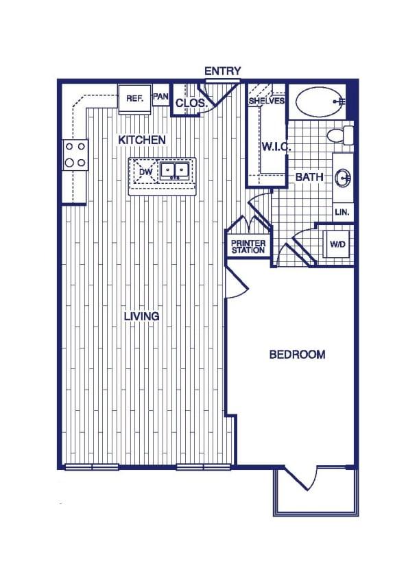 Floor Plan  A13 Floor Plan at Vargos on the Lake, Houston, TX, 77063