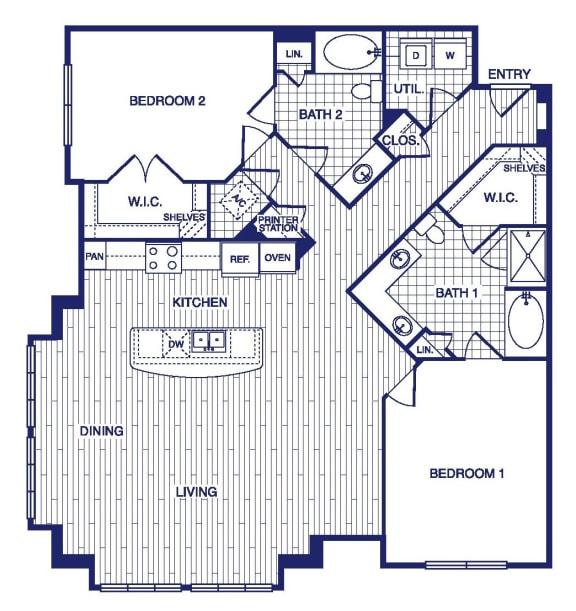 Floor Plan  D11 Floor Plan at Vargos on the Lake, Houston