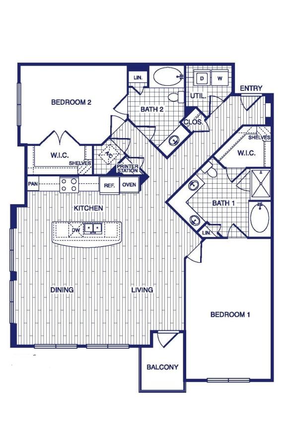 Floor Plan  D13 Floor Plan at Vargos on the Lake, Texas, 77063