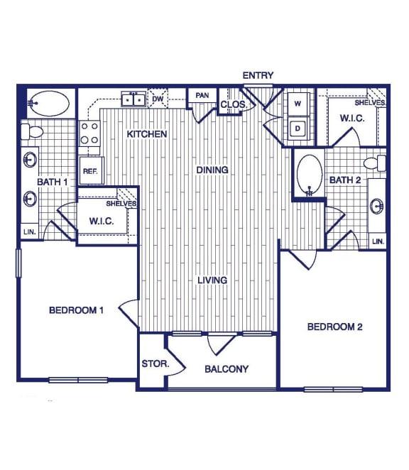Floor Plan  D4 Floor Plan at Vargos on the Lake, Texas, 77063