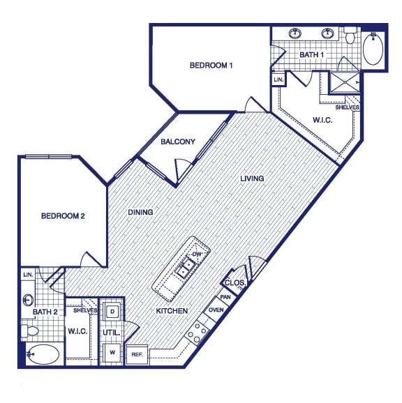 Floor Plan  D6 Floor Plan at Vargos on the Lake, Houston, Texas