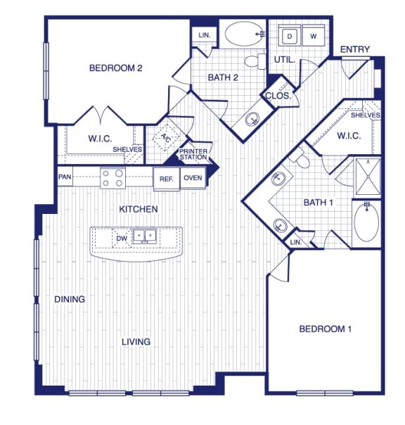 Floor Plan  D7 Floor Plan at Vargos on the Lake, Houston