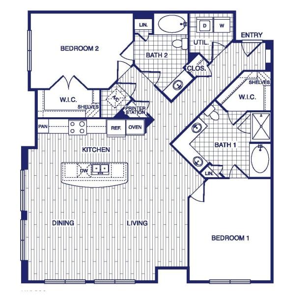 Floor Plan  D9 Floor Plan at Vargos on the Lake, Texas