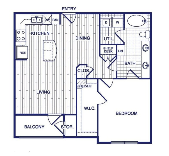 Floor Plan  A11 Floor Plan at Vargos on the Lake, Houston, TX, 77063