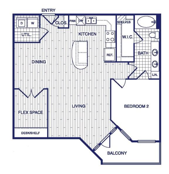 Floor Plan  A15 Floor Plan at Vargos on the Lake, Houston, TX