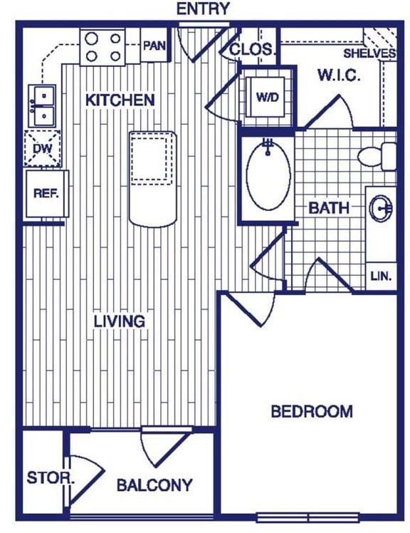 Floor Plan  A2 Floor Plan at Vargos on the Lake, Houston, TX, 77063