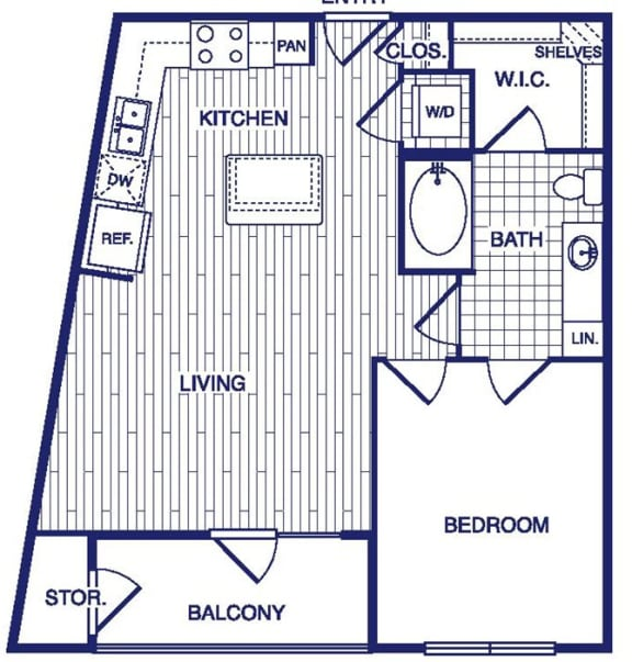 Floor Plan  A3 Floor Plan at Vargos on the Lake, Houston, TX