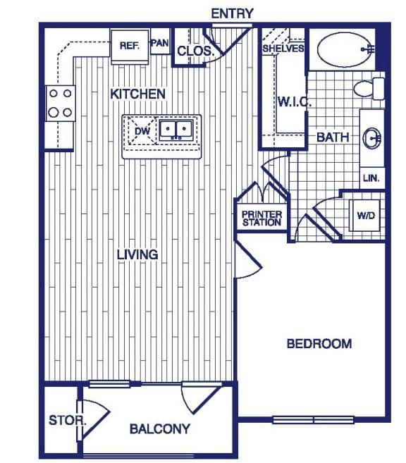 Floor Plan  A4 Floor Plan at Vargos on the Lake, Houston