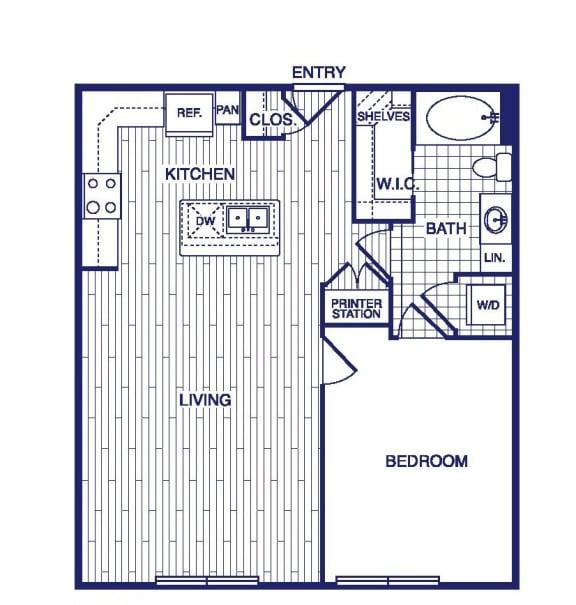 Floor Plan  A7 Floor Plan at Vargos on the Lake, Houston, Texas