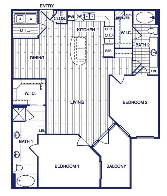 Floor Plan  D5 Floor Plan at Vargos on the Lake, Texas, 77063