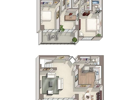 Floor Plan  3 Bed 2.5 Bath Westminster Floor Plan at The Summit, Virginia, 22304