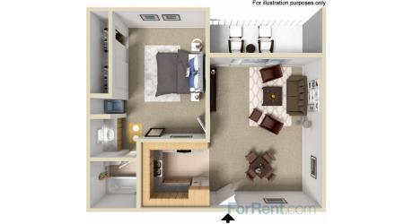 Floor Plan  Point Bonita Apartment Homes - 1 Bedroom 1 Bath Apartment