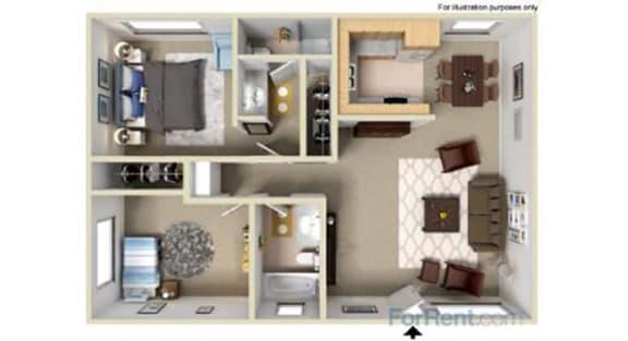 Point Bonita Apartment Homes - 2 Bedroom 2 Bath Apartment
