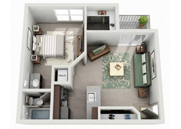 Tech Center Square Apartment Homes - 1 Bedroom 1 Bath Apartment
