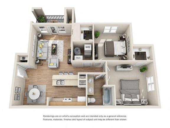 Floor Plan  Addison at Sandy Springs_Cottage