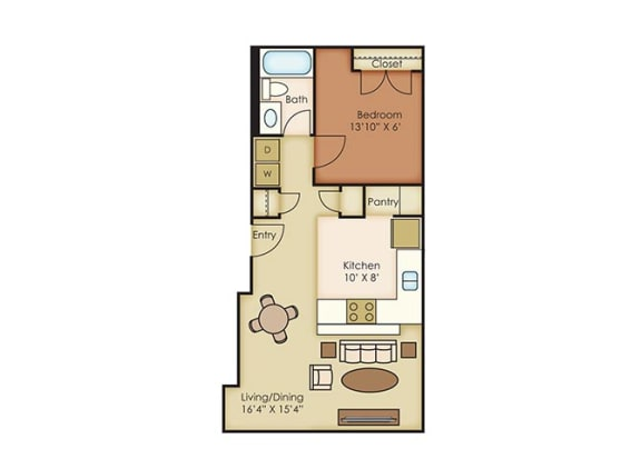 The Cannery Lofts Apartment Homes -1 Bedroom 1 Bath