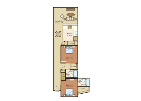 The Cannery Lofts Apartment Homes 2 Bedroom 2 Bath