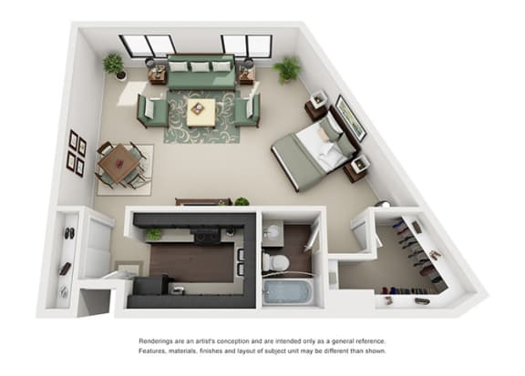 Floor Plan  one bedroom apartment floor plan overview