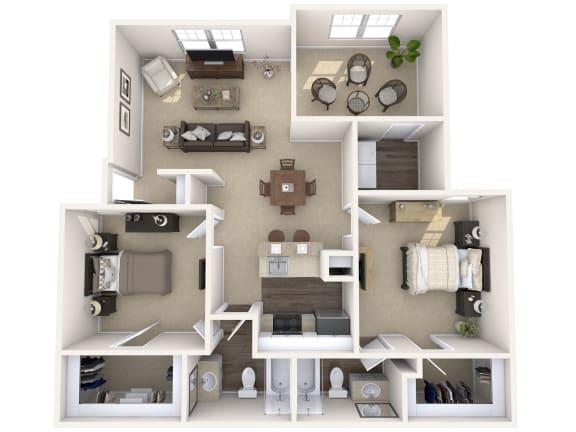 Floor Plan  Wimbledon Oaks|Oak -2Bed 2Bath